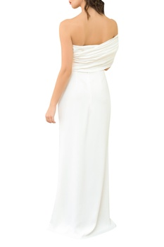 off shoulder Corseted Structured Gown
