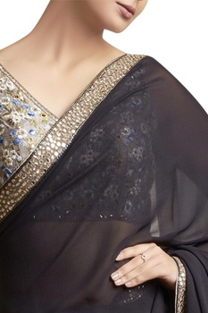 Sari with Embroidered Blouse