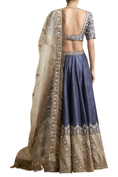 Lehenga Set with Floral Embroidered Blouse