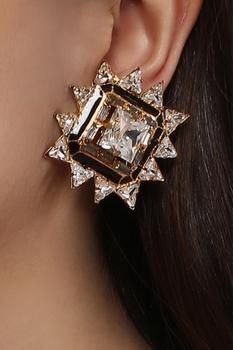 Stone embedded magic stars earrings