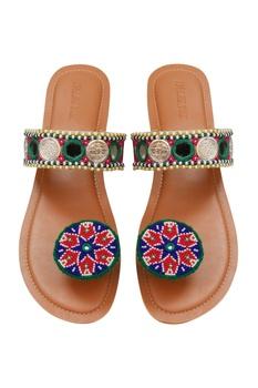 Paduka Embroidered Flats