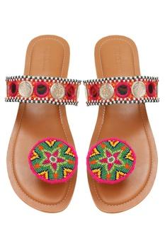 Hand Embellished Paduka Flats