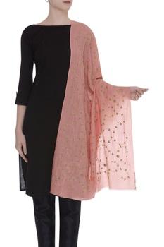 Aari and zardosi embroidered shawl