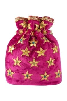 Gota Patti Embellished Potli bag