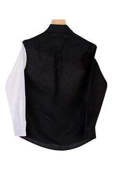 Dual Toned Collared Shirt