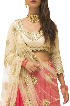 Mirror Embroidered Lehenga Set
