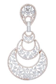 Layered chandbali style earrings