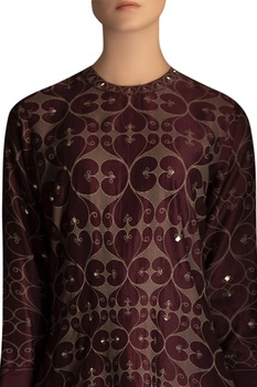 Screen printed & embellished tunic