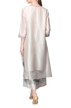 Ivory kurta & printed culottes
