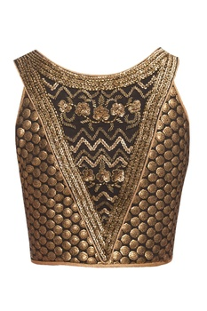 Black blouse with sequins & beads