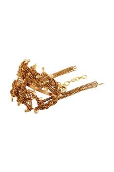 Gold plated triangular motif bangle