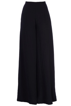 Black flared style trousers