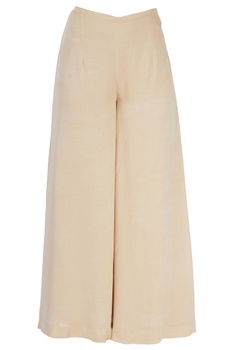 Beige palazzo style trousers
