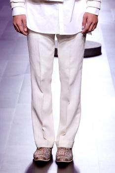 Off-white khadi trousers