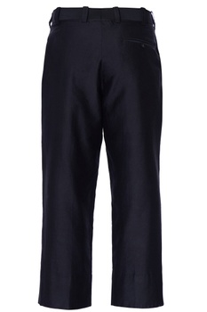 Black mini flared loose chanderi trousers
