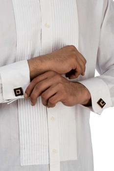 Gold handcrafted wood cufflinks