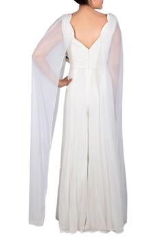 Off-white tassel beaded jumpsuit