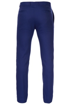 Deep blue slim fit trousers