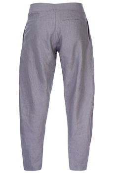 Grey gathered style trousers