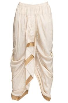 White draped dhoti pants