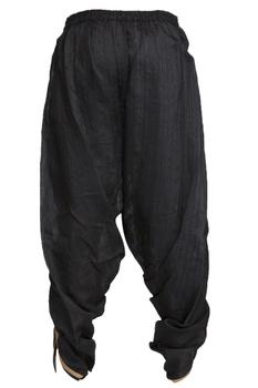 Black draped dhoti