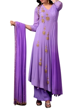 Lavender purple angarakha kurta set