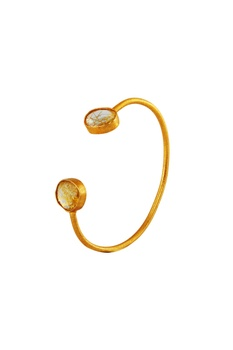 Yellow statement cuff bracelet