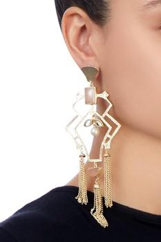 Gold plated moti earrings
