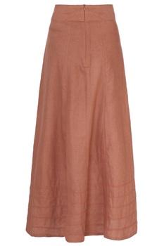 Rust orange long skirt