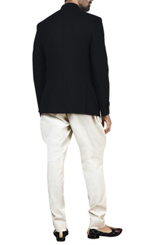 Black stretch bandhgala & white  jodhpurs