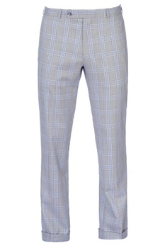 Grey & purple check pants
