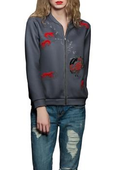 Grey lobster bomber jacket
