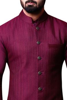 Plum purple bandhi jacket set