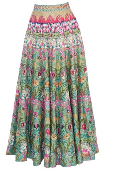 Multicolored kaleidoscopic maxi skirt