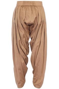 Antique gold cotton silk patiala pants