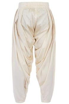 Ivory cotton silk patiala pants
