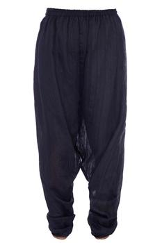 Black matka silk dhoti pants