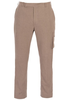 Beige organic cotton trousers