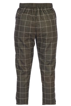 Army green checkered cigarette pants