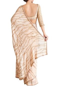 Blush pink wave motif sequin sari with blouse