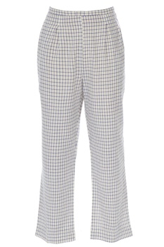 Blue & white khadi cotton pants