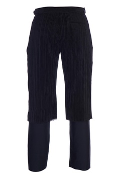 Black double layer trousers