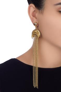 Gold plated dangler earrings
