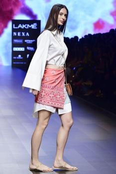 Coral twill abla work skirt