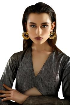 Gold plated revamped chandbaali earrings