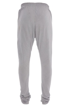 Grey rayon flex elastic waist churidar