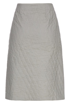 Olive grey organic poplin quilted skirt