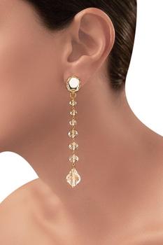Gold plated Tarun Tahiliani drop earrings