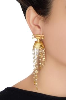 Antique telephone shape earrings