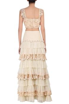 Crochet tiered style maxi skirt